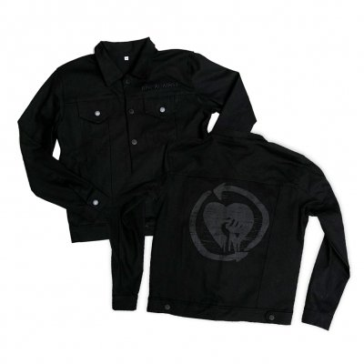 rise-against - 2017 HeartFist Denim Jacket (Black)