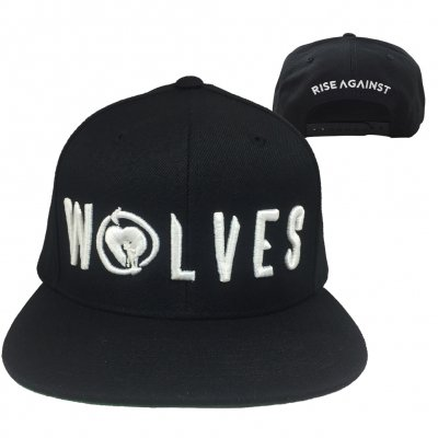 rise-against - Wolves Snapback Hat (Black)
