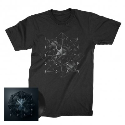 "architects - Doomsday 7"" (Black/Etched) + Tee (Black) Bundle"