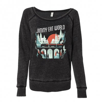jimmy-eat-world - Train Women's Sweatshirt (Charcoal Black)