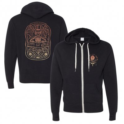 jimmy-eat-world - Skeleton Zip-Up Hoodie (Black)