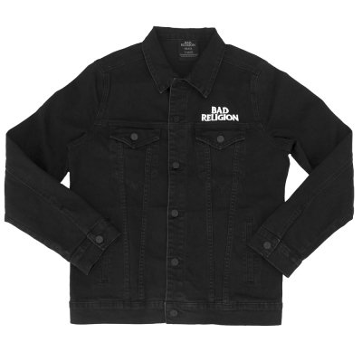 bad-religion - Custom Embroidered Logo Denim Jacket (Black)