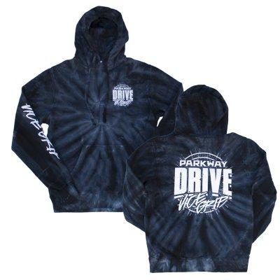 parkway-drive - Vice Splatter Pullover Hoodie (Black Tie-Dye)
