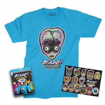 the-aquabats - Super Show Season 2 Blu-ray + Tee (Aqua) + Sticker Sheet Bundle