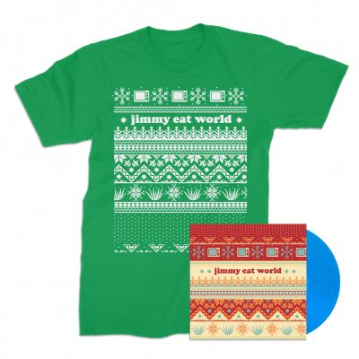 "jimmy-eat-world - Last Christmas 7"" + Tee (Green) Bundle"