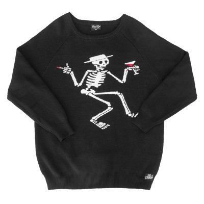 Skelly Knit Sweater (Black)