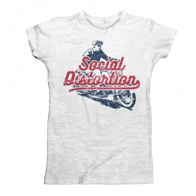 social-distortion - Vintage Motorcycle T-Shirt (White)