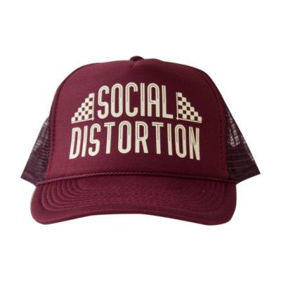 social-distortion - Maroon Racing Trucker Hat