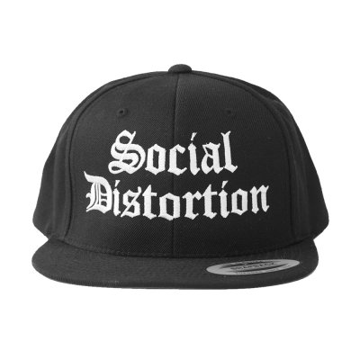 social-distortion - Old English Logo Snapback Hat (Black)