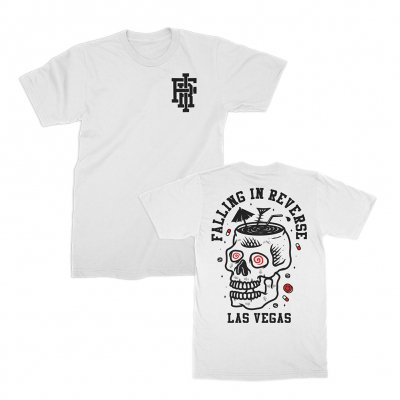 falling-in-reverse - Skull Cocktail Tee (White)