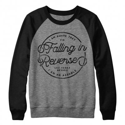 falling-in-reverse - Script Crewneck (Grey/Black)