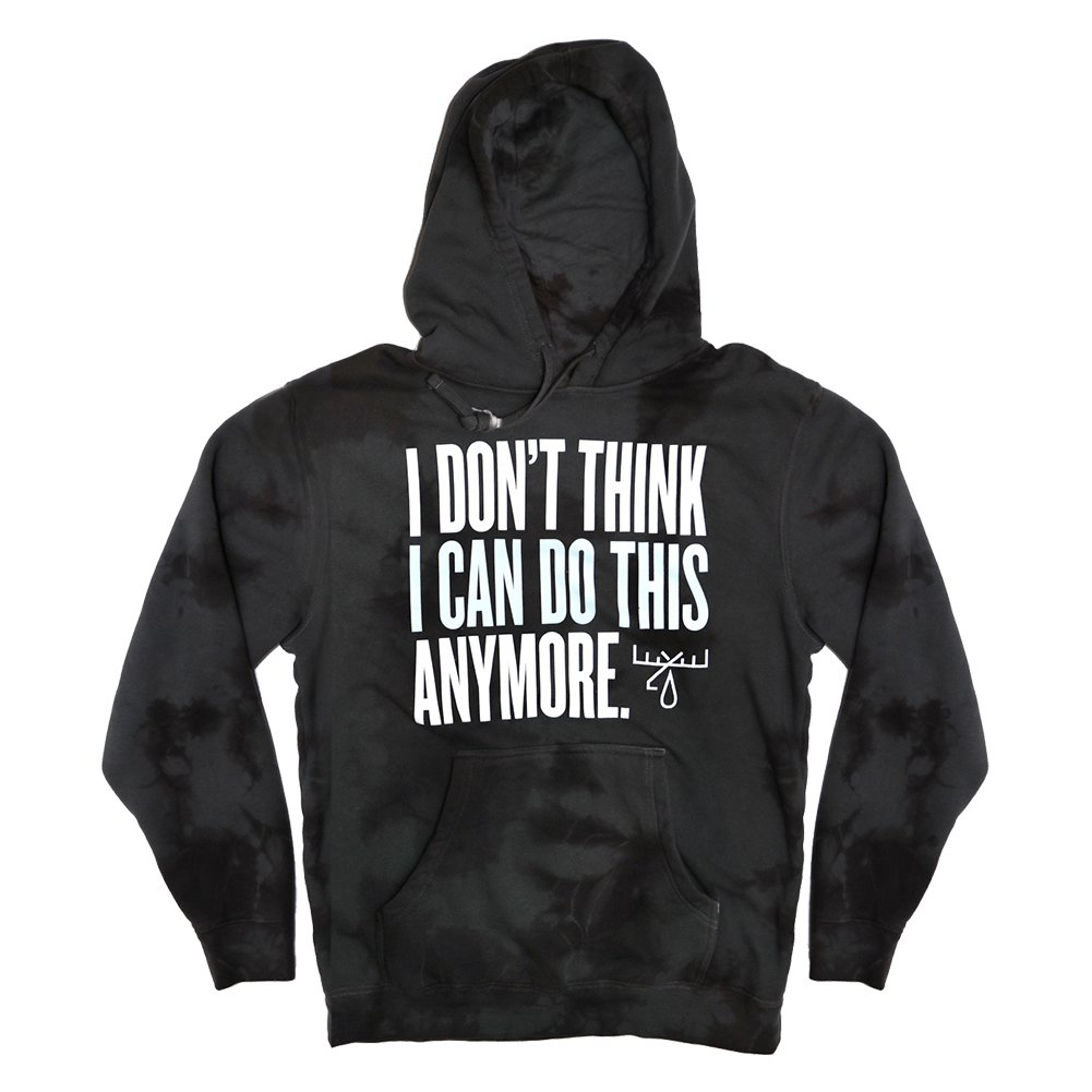 IMAGE | I Don't Think Pullover Hoodie (Acid Wash Gray)