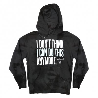 moose-blood - I Don't Think Pullover Hoodie (Acid Wash Gray)