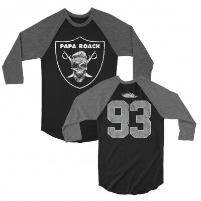 papa-roach - Roach Nation Raglan (Black/Gray)