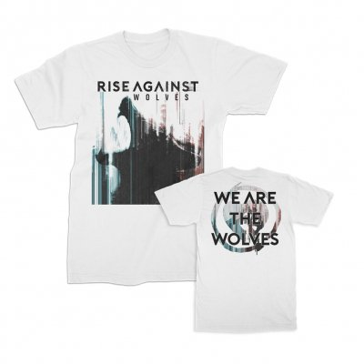 rise-against - We Are The Wolves Tee (White)