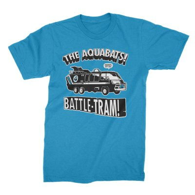 the-aquabats - Battle-Tram Tee (Sapphire)