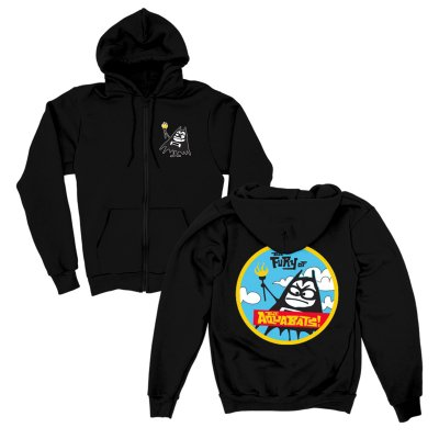 the-aquabats - Fury Bat Zip-Up Hoodie (Black)