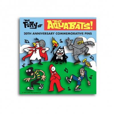 the-aquabats - The Fury Of The Aquabats Enamel 6-Pin Set