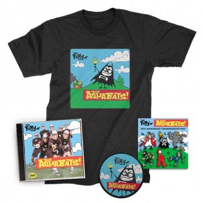 the-aquabats - The Fury Of The Aquabats CD (Signed) + Fury Bat '97 Tee + Patch + Enamel Pin Set Bundle