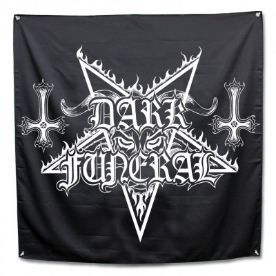 "dark-funeral - Logo Banner Flag (48"" x 48"")"