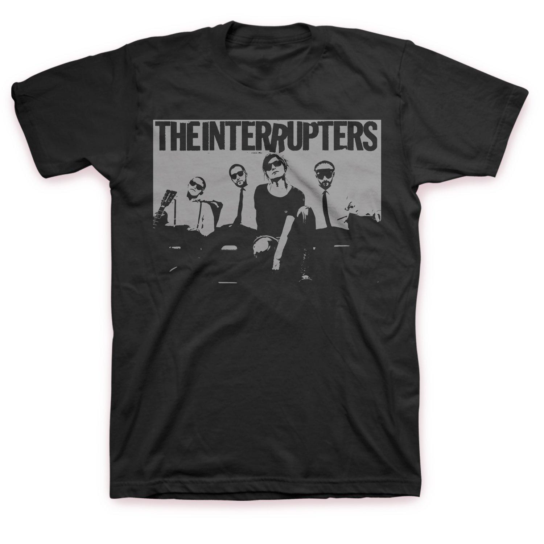 Grey Band Photo T-Shirt (Black)