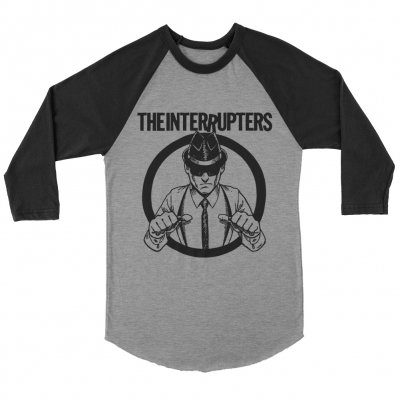 the-interrupters - Suspenders Raglan (Black/Heather Grey)