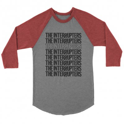 the-interrupters - Repeater Raglan (Grey/Maroon)