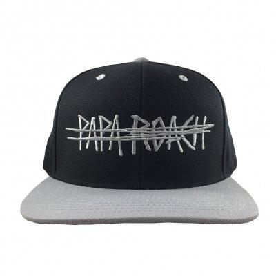 papa-roach - Scratch Logo Snapback Hat (Black/Silver)