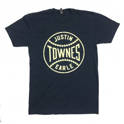 justin-townes-earle - Baseball T-Shirt (Dark Heather Navy)