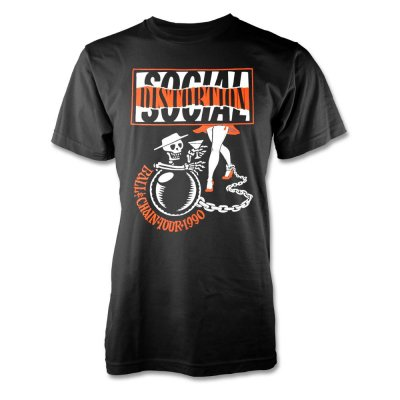 social-distortion - Ball & Chain Tour 1990 T-Shirt (Black)