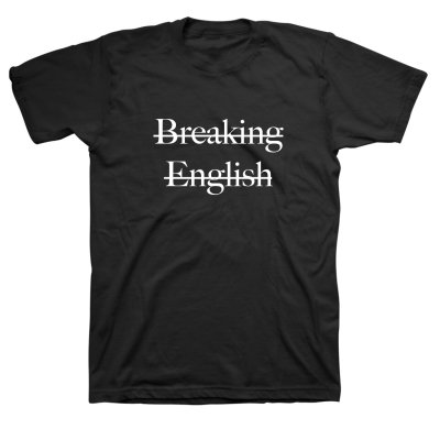 Rafiq Bhatia - Breaking English Tee (Black)