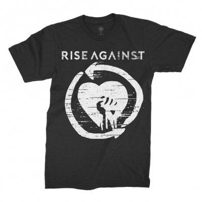 rise-against - Distressed Heartfist Tee (Black)
