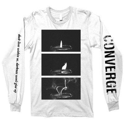 converge - The Dusk In Us Candle Longsleeve Tee (White)