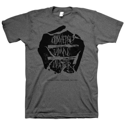 Three Band Flyer Tee (Heather Charcoal)