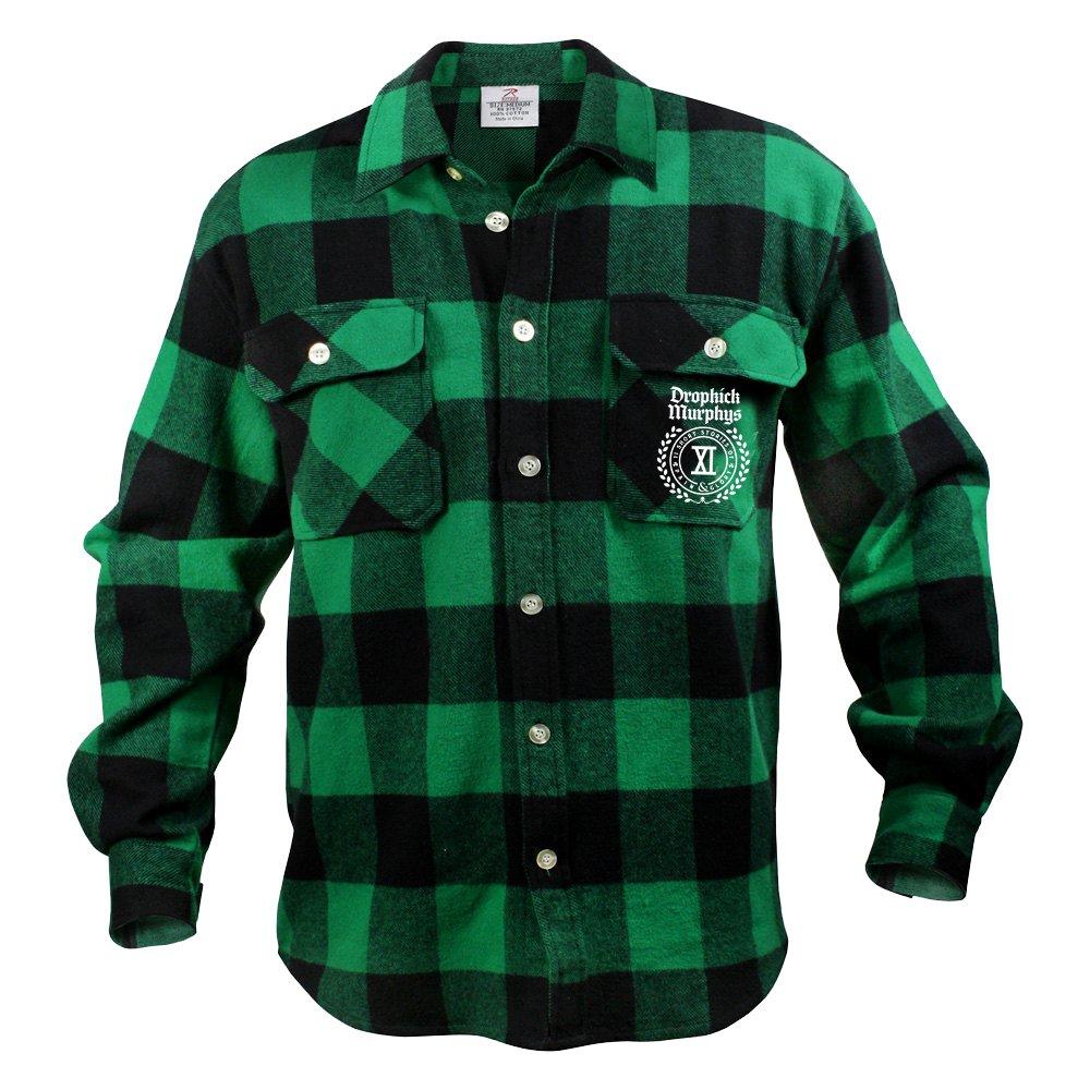Limited Edition Crest Logo Flannel (Black/Green)
