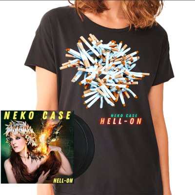 neko-case - Hell-On 2xLP (180g Black) + Tee (Unisex) Bundle