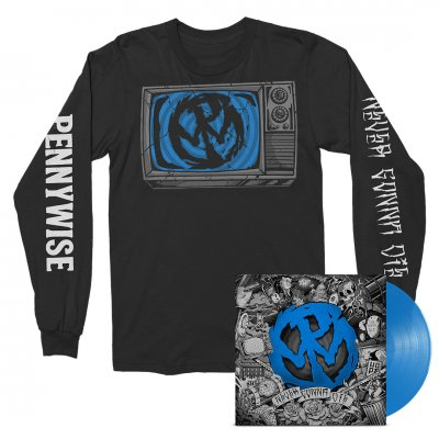 Pennywise - Never Gonna Die LP (Blue) + Long Sleeve Bundle