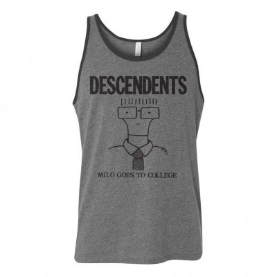 descendents - Milo Goes To College Athletic Tank (Grey)
