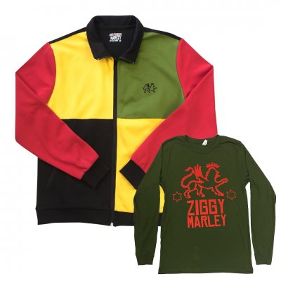 ziggy-marley - Rasta Track Jacket + Free Long Sleeve T-Shirt