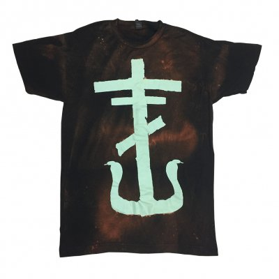 frank-iero - Cross T-Shirt (Bleached)