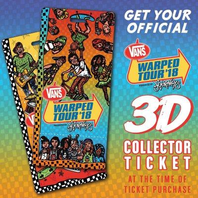 vans-warped-tour - 2018 Warped Tour 3D Ticket Upgrade