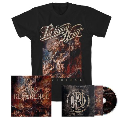 parkway-drive - Reverence CD + Album Tee (Black) + Signed Lithograph Bundle