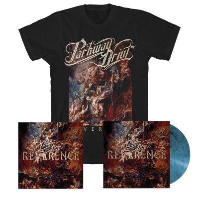parkway-drive - Reverence LP (Blue) + Album Tee (Black) + Signed Lithograph Bundle