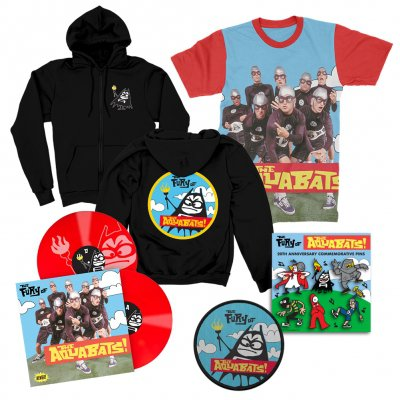 the-aquabats - The Fury Of The Aquabats Remastered 2xLP (Red) + Fury Band Photo Tee + Fury Bat Zip-Up Hoodie + Patch + Enamel Pin Set Bundle