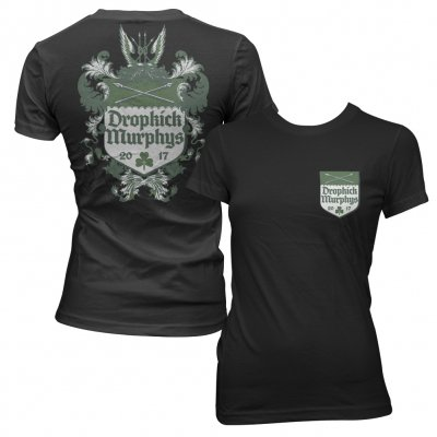 dropkick-murphys - Coat Of Arms Womens Tee (Black)