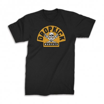 dropkick-murphys - Black & Gold Jolly Roger Tee (Black)