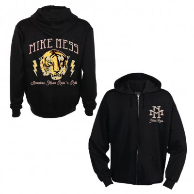 mike-ness - Tiger Zip-Up Hoodie (Black)