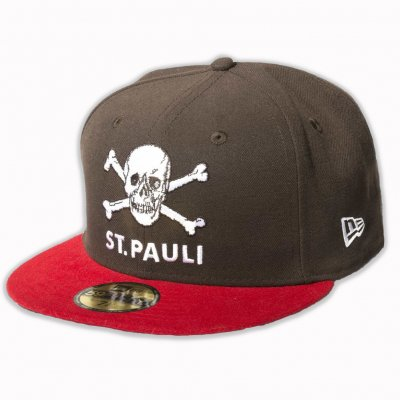 FC St Pauli - St. Pauli Skull 59Fifty Snapback Cap (Brown/Red)