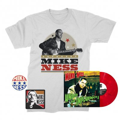 mike-ness - Under The Influence LP (Red Slushie) + Woodprint T-Shirt + Enamel Pin + Patch