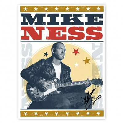 "mike-ness - Stars Screen Print (Signed - 18""x24"")"